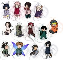 Naruto babies. color. by watereye