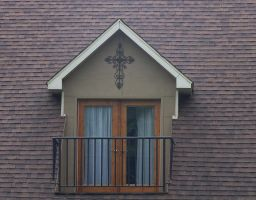 Window with cross by Hermit-stock