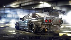 Need for speed tribute - Nissan Skyline R32 by yasiddesign