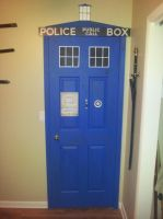 My Hand Painted TARDIS Door by SanHolo80