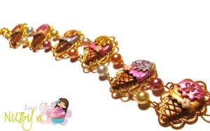 Vintage Ice Cream Bracelet by colourful-blossom