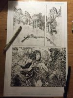 Wonder Woman page WIP by LiamSharp