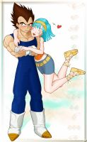 Vegeta and Bulma by P-JoArt