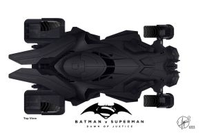 New Batmobil - Batman vs. Superman by Paul-Muad-Dib