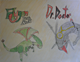 Flygon Pirate and Dr. Doctor by thebannanaking