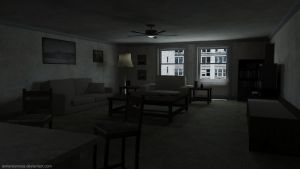 Living Room (Silent Hill 4 - The Room) by iemersonrosa