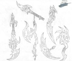 Weapons Sketch by The-Bluetip