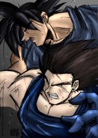 Goku and Vegeta pist by syphonfx