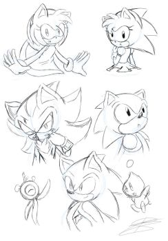 Random sketches by BloomPhantom