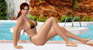 Claire Redfield     POOL-GODDESS by blw7920