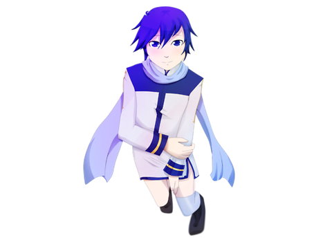Kaito in a Dress Dress Dress Dress thing by Darxemnia