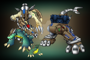 Crocomon EVOLUTIONS by neoarchangemon