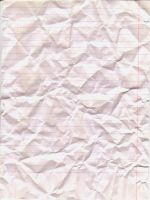 Crumpled Lined Paper by PrinnyDance