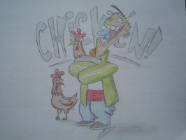 Ed loves Chickens! by Aranniel
