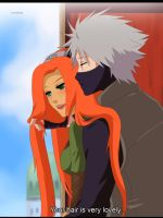 Commission: Kakashi and Azami by annria2002