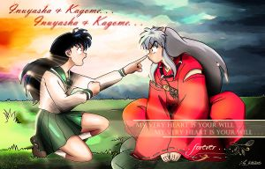 Kagome and  Inuyasha For Ever by jojosjuaninhas