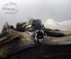 Lotus Silver Ring by Rolary