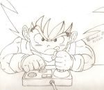 Kid Goku Playing A Video Game by bluepelt