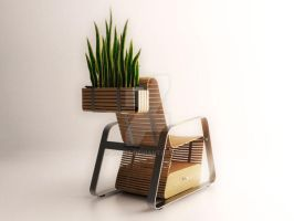 sansevieria chair II_back view by rzart