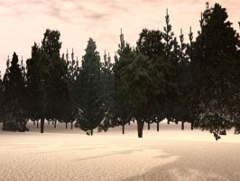 Bryce Forest Background by mysticmorning