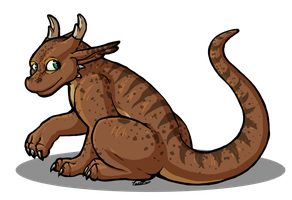 Wingless Forest Dragon by oddsocket