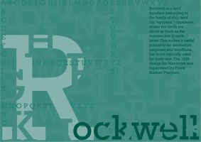 Rockwell Typeface Poster by Ryglore
