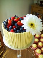 Wedding cake- Top Tier view #2 by PORGEcreations