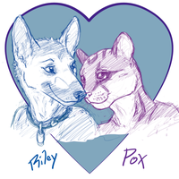 Riley + PoX = :3 by CanineHybrid