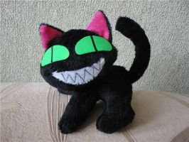 Trigun cat plushie by Rens-twin
