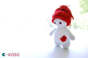 Crochet Rag Doll by Ahookamigurumi