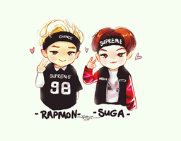 BTS// Sugamon~ Suga / Rapmonster ^^ by BlueSushiKitty2