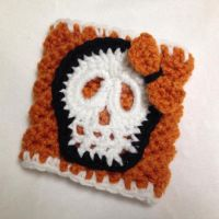 Skull Halloween coffee cozy - Cup Sleeve by Dragon620026