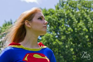 Supergirl Observes by ASKInfinity