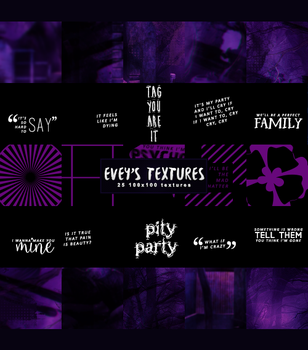 #19 Icon Textures Pack - Night Mime by Evey-V