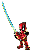 Deadpool Render 8 (Widdle Wade) by GreyBeardLegend
