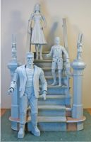 Munsters staircase display 4 by BLACKPLAGUE1348