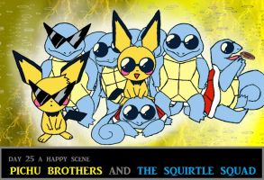 Day 25 Pichu Brothers and The Squirtle Squad by Jacklave