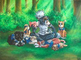 Kakashi Ninja Dog Commission by ErithEl