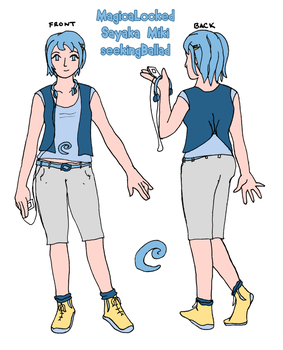 MagicaLocked Profile: Casual Sayaka by DragonicSoul