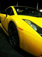 Yellow Lamborghini by copperarabian