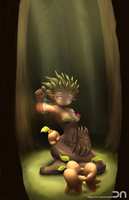 League Of Legends - Maokai(girl) by Nestkeeper