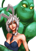 Riven and Zac by o0Mythius0o