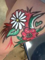 flowers on my leg by DalilaJasmin