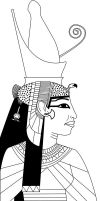 Egyptian Queen Line by Karlika