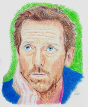 Hugh Laurie in Color by X-Enlee-X