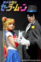 Sailor Moon and Tuxedo Mask- we will punish you! by SailorMappy