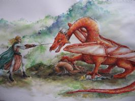 Smaug and the Elvenking by Neldor