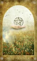 Ace of Pentacles by Fant0me