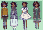 Audrey Outfits by PlegianHylian