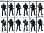 Noble Six B-312 Cassie armor evolution sequence by XRaiderV1